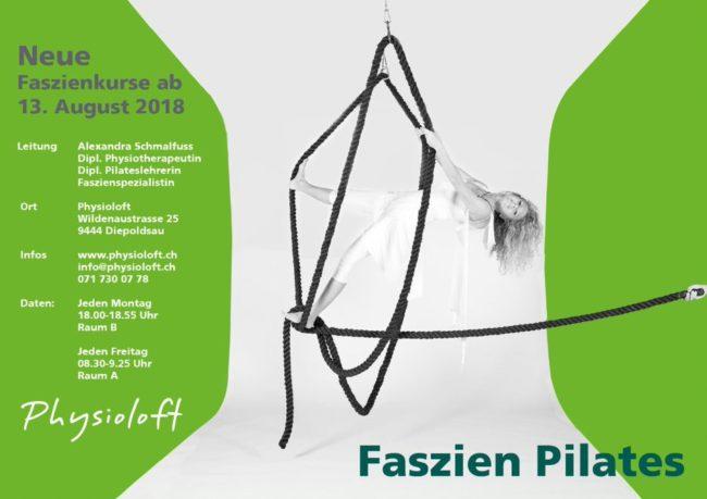 Neue Faszien Pilates Kurse ab 13. August 2018 mit Alexandra