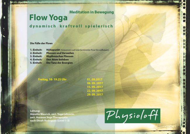 Flow Yoga / dynamisch kraftvoll spielerisch