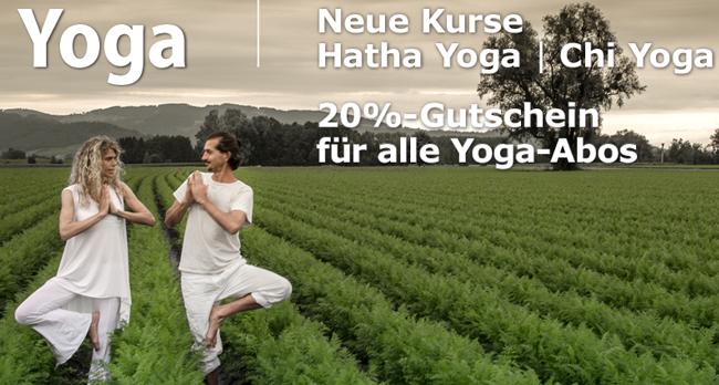 Neue Kurse | 20% Gutschein für alle Yoga-Abos