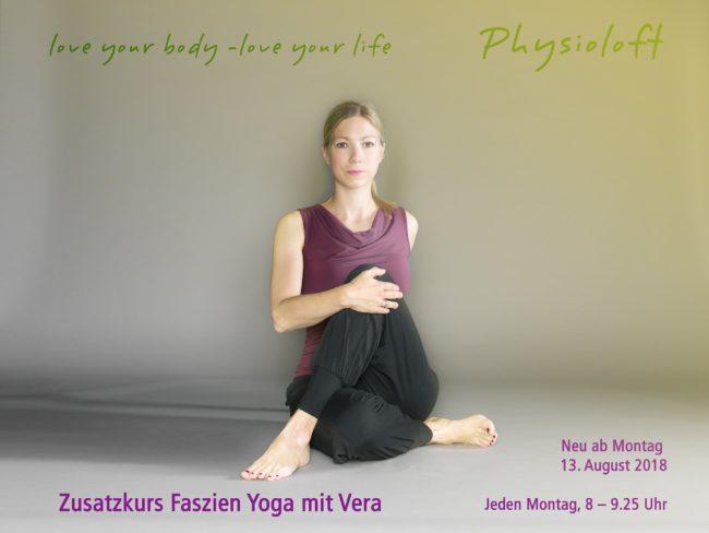 Montag Morgen 8 Uhr: Zusatzkurs Faszien Yoga