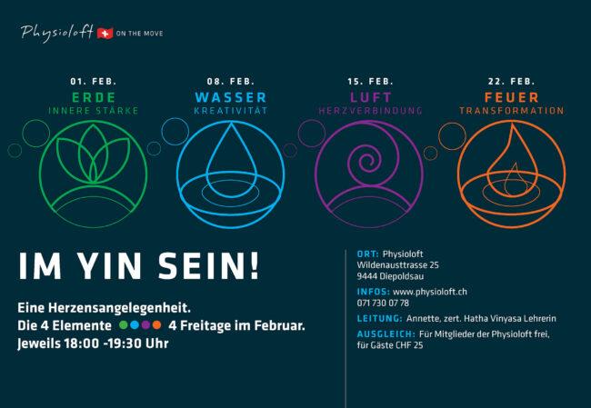 Im Yin sein mit 4 Elemente Yoga im Februar 2019
