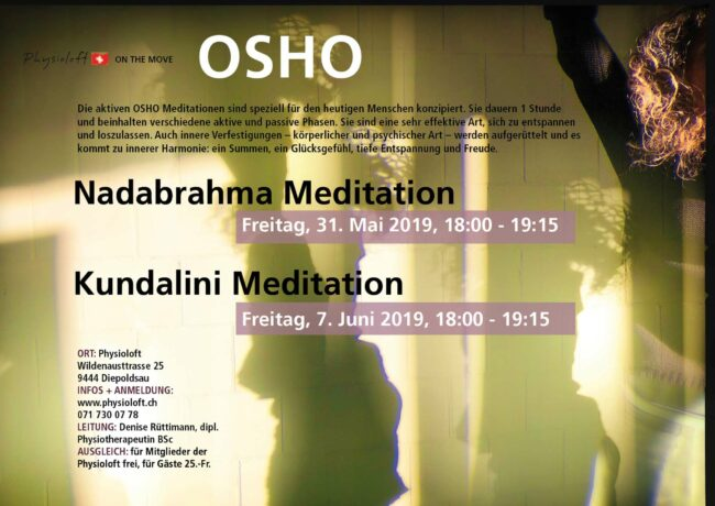 Aktive OSHO Meditationen mit Denise