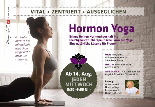 Hormon Yoga / jeden Mittwoch ab 14. August 2019