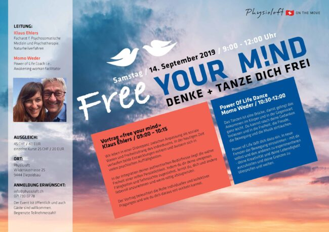 Free YOUR M!ND / 14. Sept. 9-12 Uhr