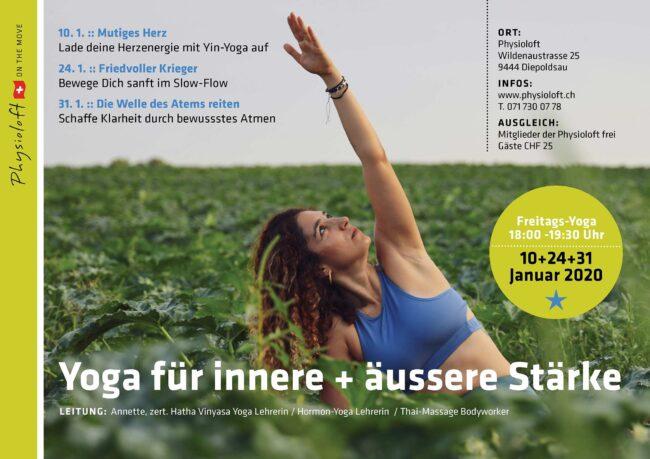 Yoga für innere + äussere Stärke